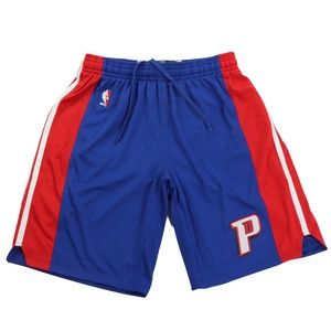 New Adidas Detroit Pistons Team Issued Pro Shorts